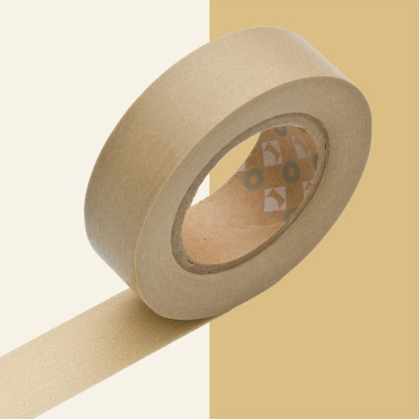 Masking tape uni beige x 10 m - Photo n°1