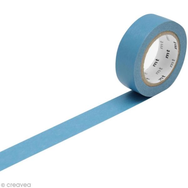 Masking Tape Basic Uni - Bleu roi - 15 mm x 10 m - Photo n°1