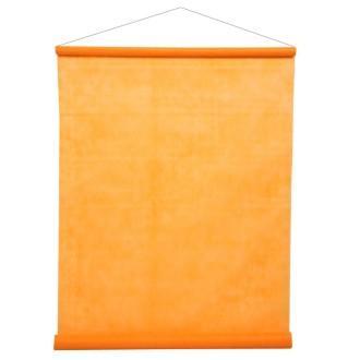 Tenture de salle orange fluo