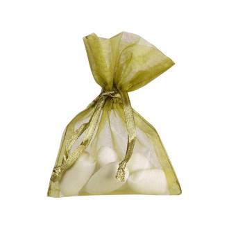 Sacs en organdi vert menthe (x10)