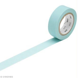 Masking Tape Basic Uni - Bleu ciel - 15 mm x 10 m