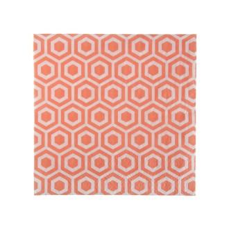 Serviettes Cérémonie Corail (x 20 Pcs)