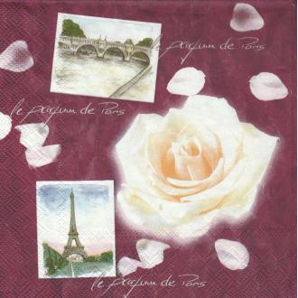 4 Serviettes en papier Parfum de Paris Format Lunch