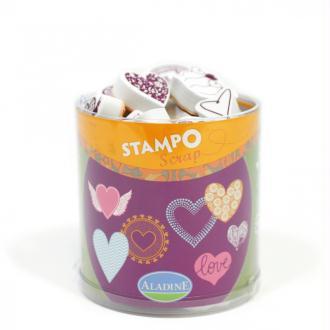 Stampo Scrap coeurs Aladine x 35 tampons