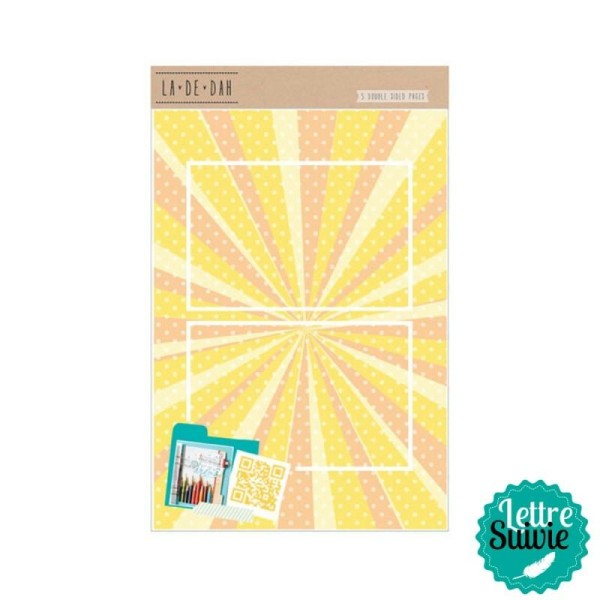 Recharge 5 feuilles pour journal créatif La De Dah - Photo n°1
