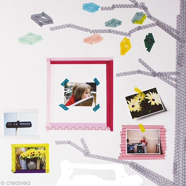 Masking tape uni blanc mat x 10 m - Photo n°4