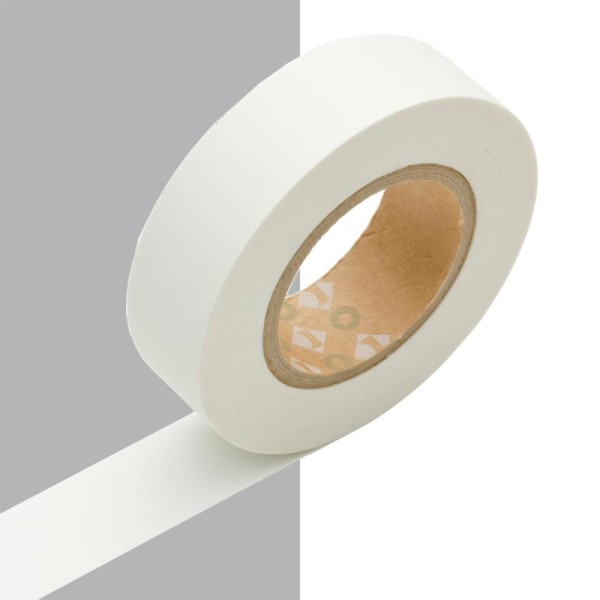 Masking tape uni blanc mat x 10 m - Photo n°1