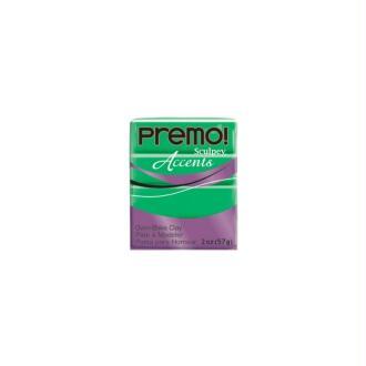 Premo Sculpey pain de 57g - Accents vert translucide 5048