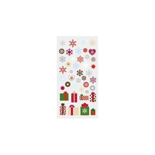 Stickers 3D Noël motifs flocons et cadeaux par Artemio - Photo n°1