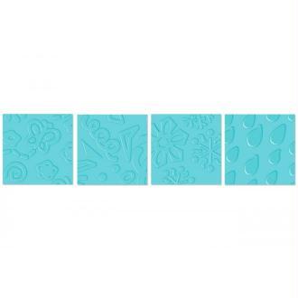 Plaque de gauffrage Fiskars 4 motifs