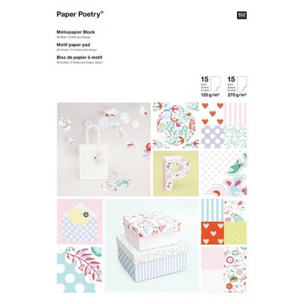 Bloc A4 papier scrapbooking