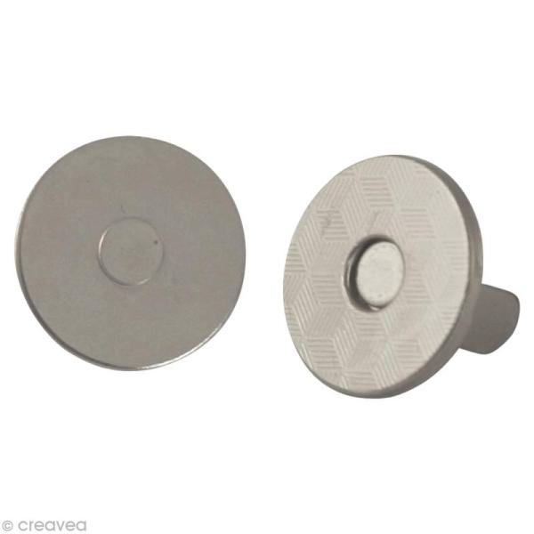 Fermeture magnétique argenté 18 mm x 5 - Photo n°1