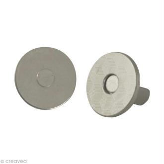 Fermeture magnétique argenté 14 mm x 5