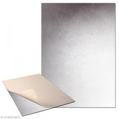 Plaque de métal adhésive 30 x 40cm - 2 plaques - Photo n°1
