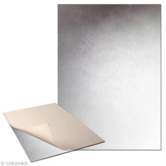 Plaque de métal adhésive 30 x 40cm - 2 plaques