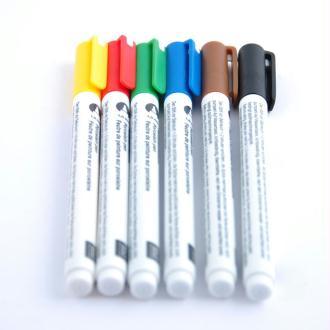 Feutres de peinture sur porcelaine x 6 coloris basics