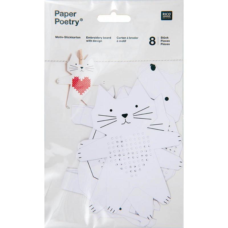 Kit 8 cartons broder chat et chien rico design support for Art et decoration janvier 2014