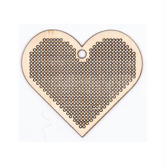 Support coeur à broder en bois Rico Design