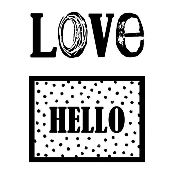 Mini Tampons Clear Love / Hello - Artemio - Photo n°1