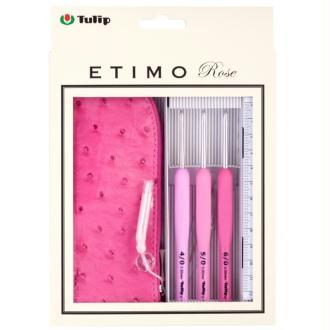 Lot 3 crochets Etimo Tulip + trousse