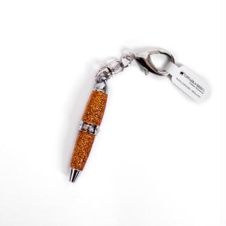Mini stylo porte-clefs - Cuivre pailleté