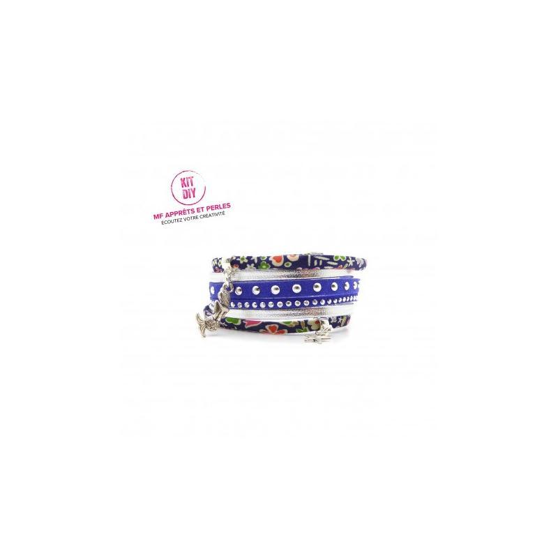 Kit bracelet liberty kayoko bleu su dine clout e et cuir for Art et cuisine avis