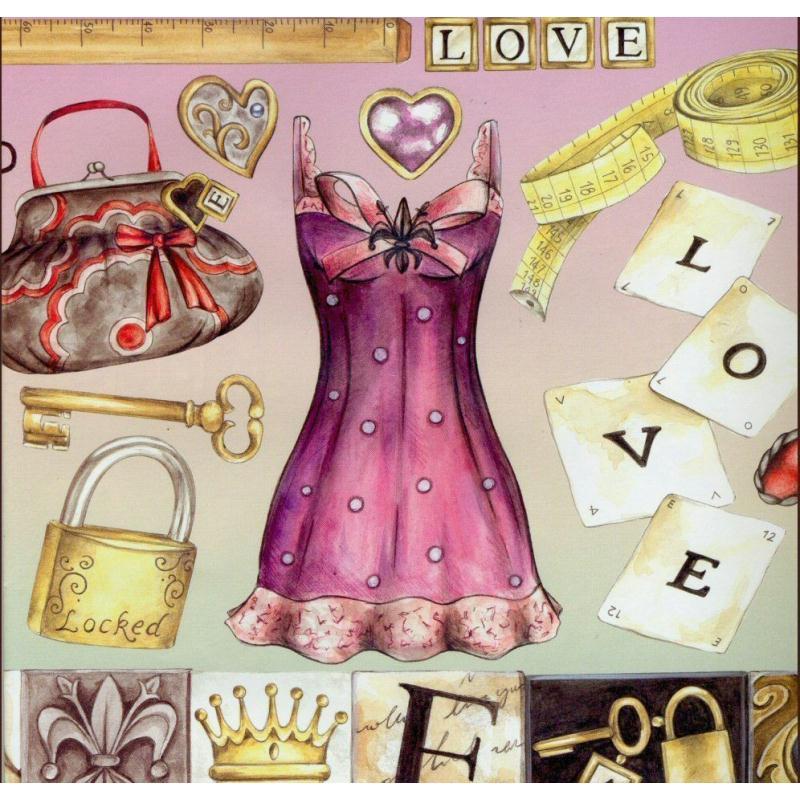 Papier de d coupage secret mode amour dfg296 50x70 cm for Amour de cuisine basboussa