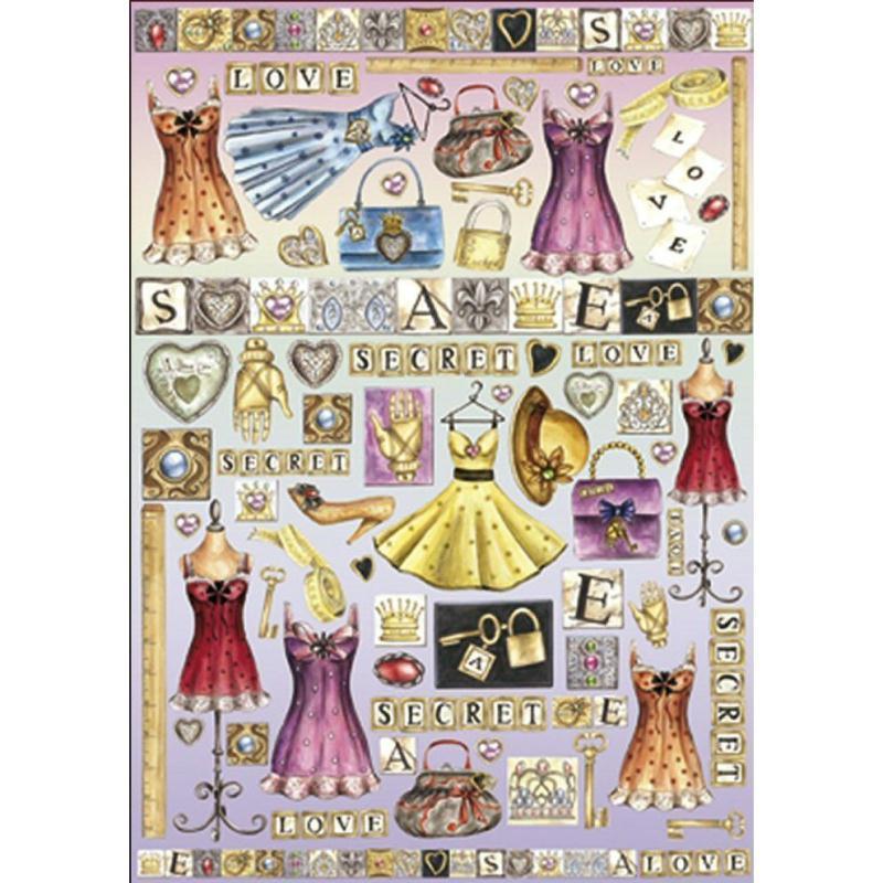 Papier de d coupage secret mode amour dfg296 50x70 cm for Amour de cuisine de soulef