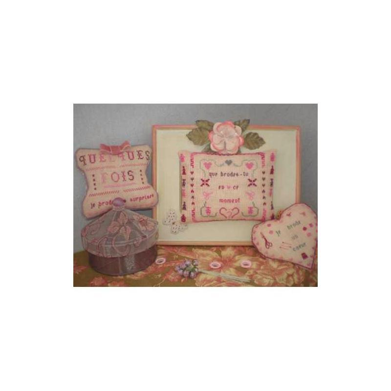Ros e poudr e kit point de croix creavea for Point de rosee chaudiere bois