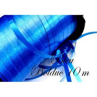 Bolduc,emballages cadeaux, 5 mètres couleur bleu