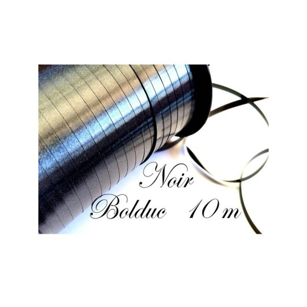Bolduc,emballages cadeaux, 5 mètres couleur noir - Photo n°1