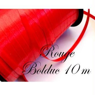 Bolduc,emballages cadeaux, 5 mètres couleur rouge
