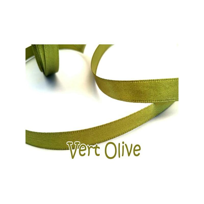 ruban satin 5 m tres couleur vert olive ruban satin creavea. Black Bedroom Furniture Sets. Home Design Ideas