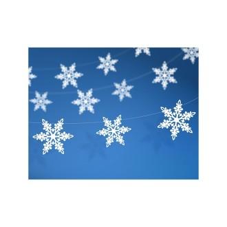 Guirlande flocons de neige nacrés