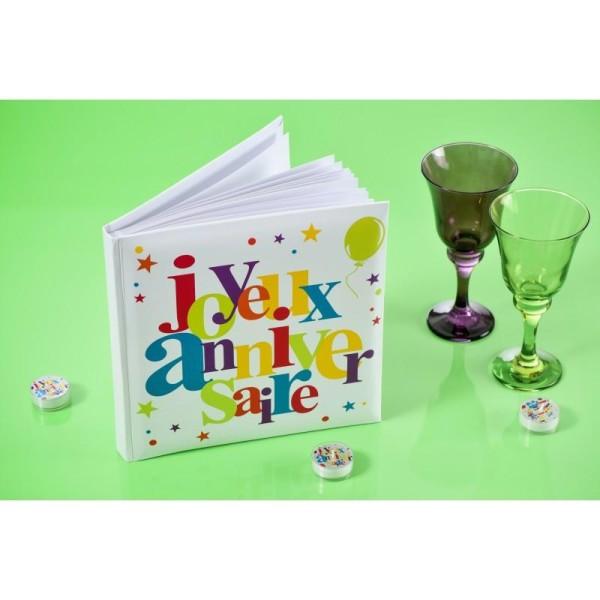 Livre d'or  Joyeux Anniversaire multicolore - Photo n°3