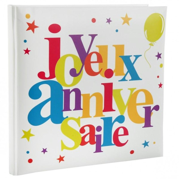 Livre d'or  Joyeux Anniversaire multicolore - Photo n°1