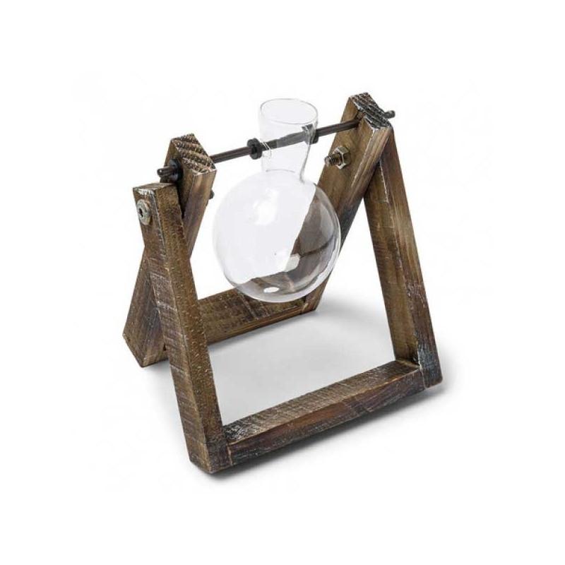 Porte fiole en bois et verre accessoires pour d co table for Accessoire cuisine en ligne