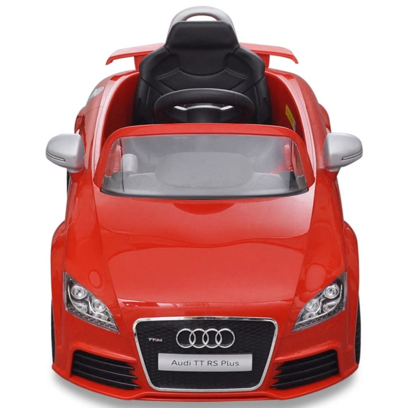 voiture lectrique pour enfant audi tt rs rouge avec. Black Bedroom Furniture Sets. Home Design Ideas