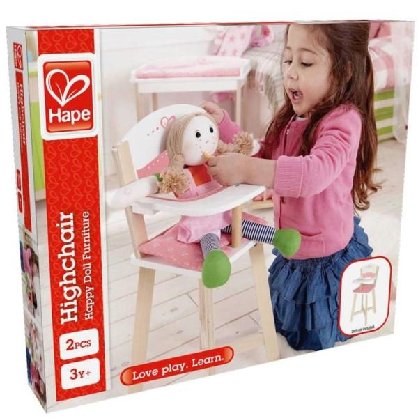 Chaise Haute Bois Hape King Jouet, Accessoires de poupées