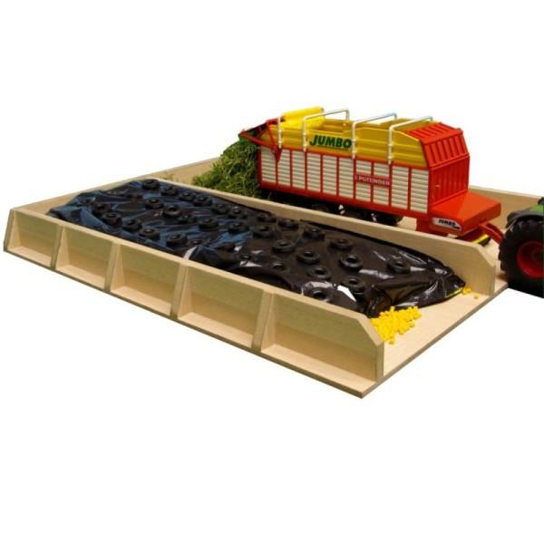Kids Globe Fosse D'ensilage Pour Tracteur 1:32 610451 - Photo n°1