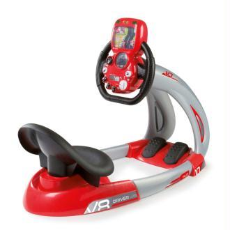 Smoby Simulateur de conduite Pilot V8 Rouge et noir 370206
