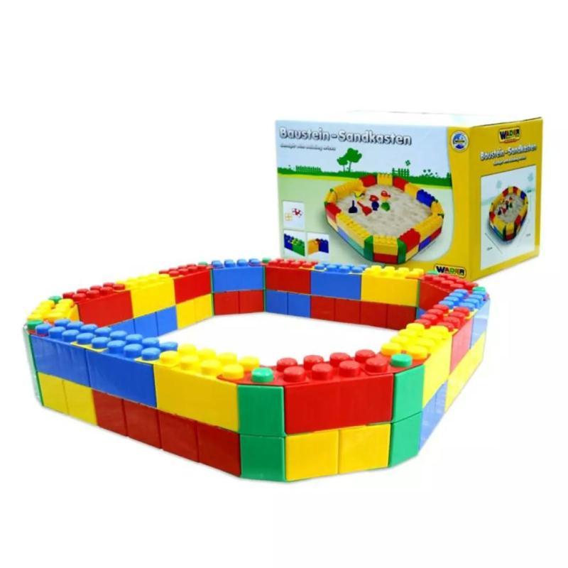 polesie wader bac sable blocs de construction 120x120x23 cm 1450534 jeux et jouets plein air. Black Bedroom Furniture Sets. Home Design Ideas