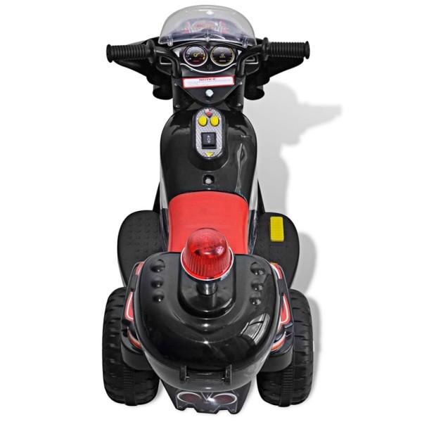 vidaxl moto chevaucher sur piles noir jouets mixtes creavea. Black Bedroom Furniture Sets. Home Design Ideas