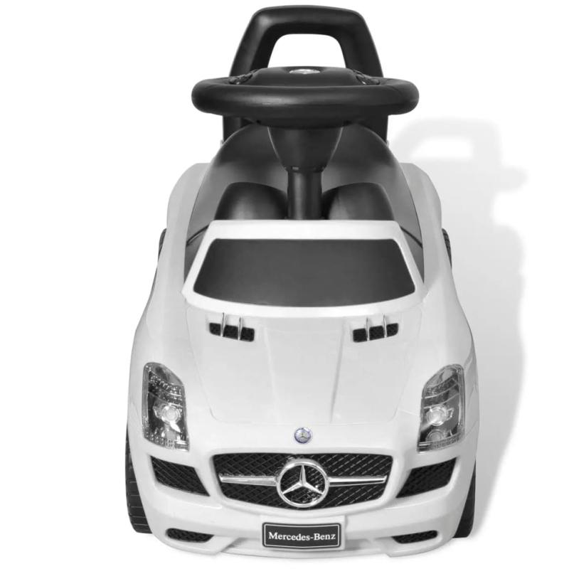 mercedes benz pousse pied voiture enfant blanc jouets. Black Bedroom Furniture Sets. Home Design Ideas