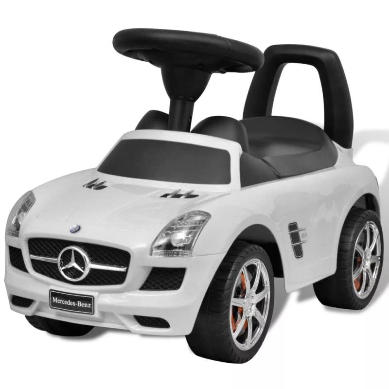 mercedes benz pousse pied voiture enfant blanc jouets mixtes creavea. Black Bedroom Furniture Sets. Home Design Ideas