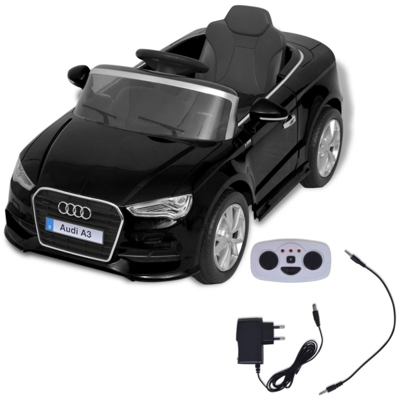 vidaxl voiture lectrique pour enfants t l command e audi a3 noir jouets mixtes creavea. Black Bedroom Furniture Sets. Home Design Ideas