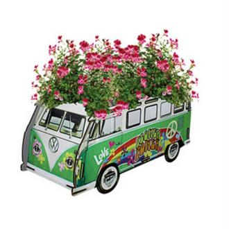 Pot de fleurs Combi vert Hippie en bois à assembler