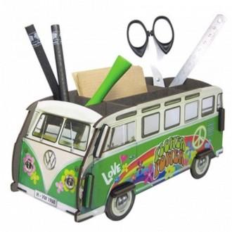 Pot à crayons Combi vert Hippie en bois à assembler