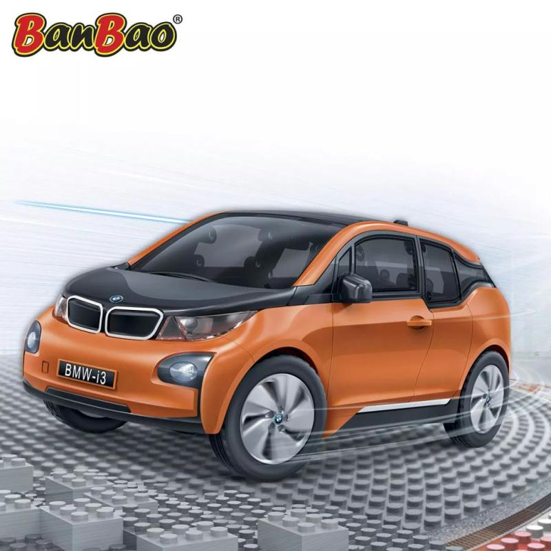 bmw i3 orange banbao 6802 2 jeux de construction creavea. Black Bedroom Furniture Sets. Home Design Ideas