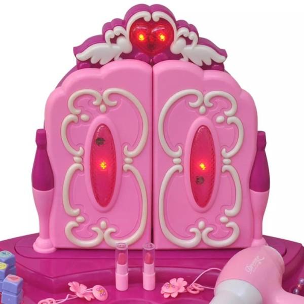 coiffeuse de jouet avec lumi re son et 3 miroirs pour. Black Bedroom Furniture Sets. Home Design Ideas